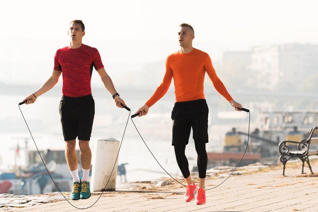 طناب زدن ورزشکاران