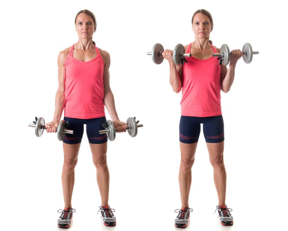 تمرین جلو بازو زن 40 ساله