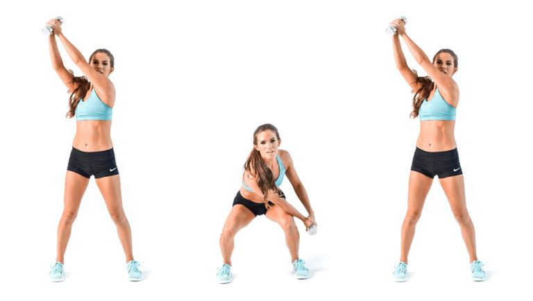 حرکت هیزم شکن زن ورزشکار