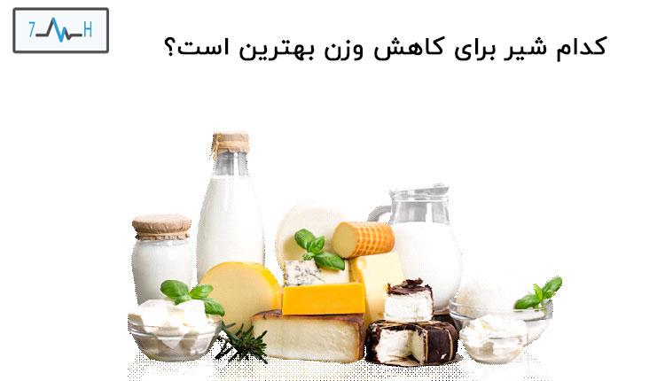 شیر در کنار دیگر محصولات لبنی
