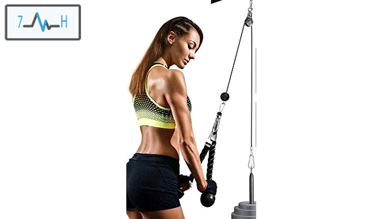 تمرین پشت بازو با سیم کش