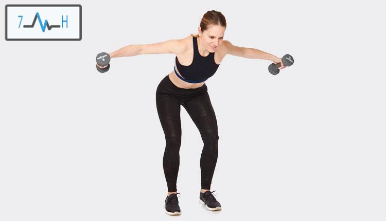 تمرین پشت بازو با دمبل