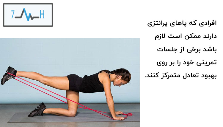ورزشکار در حال تمرین با کش