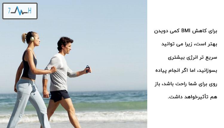 راه رفتن یا دویدن از راه های درمان ژنیکوماستی