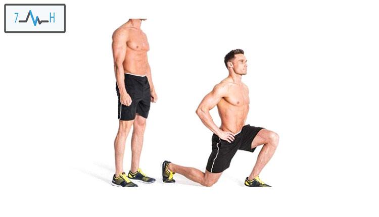 تمرین لانچ درجا ی یک پا