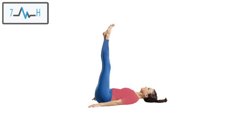حرکت ابشار به صورت خوابیده در یوگا